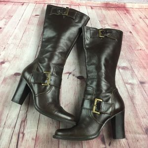 💸Julius Lea brown leather tall boot size 7 1/2 m